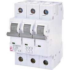 Автоматичний вимикач ETIMAT6 3p C25A ETI