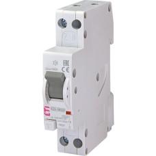 Диференційний автоматичний вимикач ETI 002175852 KZS 1M SUP з 10/0.01 тип A (6kA) з верхним підключенням
