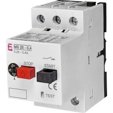 Автомат захисту двигуна ETI 004600030 MS25-0.4