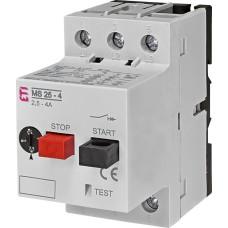Автомат захисту двигуна ETI 004600080 MS25-4