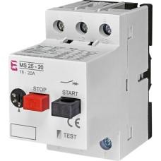 Автомат захисту двигуна ETI 004600120 MS25-20