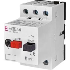 Автомат захисту двигуна ETI 004600040 MS25-0.63