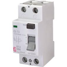 ПЗВ ETI 002062531 EFI-2 100/0.03 тип AC (10kA)
