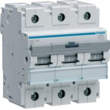 Модульний Автоматичний вимикач Hager HMX363 3P 50кА C-63A 4,5M