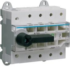 Модульний вимикач навантаження Hager HA305 в 50мм² 3P 100А з видимим розривом