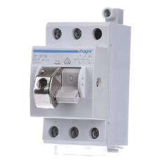 Компактний вимикач навантаження Hager SH363S 3Р 63А/400В із замком