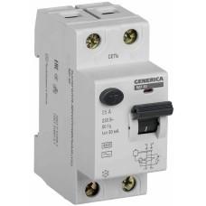Пристрій захисного відключення Generica MDV15-2-025-030 ВД1-63 2Р 25А 30мА