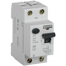 Пристрій захисного відключення Generica MDV15-2-063-030 ВД1-63 2Р 63А 30мА