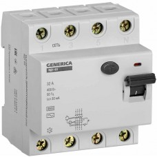 Пристрій захисного відключення Generica MDV15-4-032-030 ВД1-63 4Р 32А 30мА
