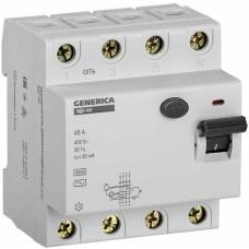 Пристрій захисного відключення Generica MDV15-4-040-030 ВД1-63 4Р 40А 30мА