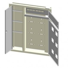 Цільнокорпусний вбудований поверховий щит Білмакс Б00030153 ЩЕ-7ст 02 (зеркальний)
