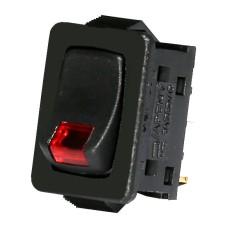 Червоний вимикач з індикатором тліючого розряду ETI 002470108 USS-07 10A