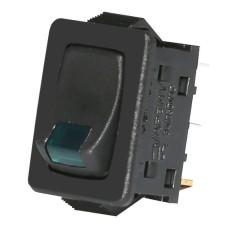Зелений вимикач з індикатором тліючого розряду ETI 002470109 USS-08 10A