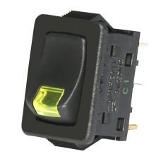 Жовтий вимикач з індикатором тліючого розряду ETI 002470110 USS-09 10A