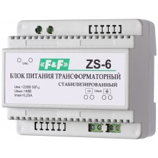 Джерело живлення F&F ZS-6 230В AC 0,25А OUT 48В DC 12 Вт