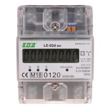 Трифазний лічильник електроенергії F&F LE-02D 3х230/400В 3х63А