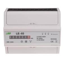 Лічильник електроенергії F&F LE-03 3х230/400В 3х100А