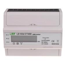 Лічильник електроенергії F&F LE03D-CT400 3х230/400В 3х5А (трансформатор 400/5A)