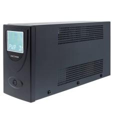 Джерело безперебійного живленя LogicPower LP1454 UL650VA AVR 7.5Ач 2В (390Вт) в металевому корпусі з USB-портом та 2 євророзетками (чорний)