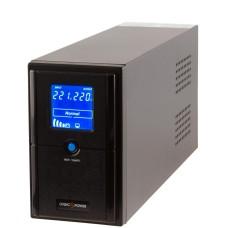 Джерело безперебійного живленя LogicPower LP4977 LPM-L625VA в металевому корпусі з LCD дисплеєм і 2 євророзетками (437Вт) AVR 7.5Ач 12В (чорний)