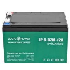 Тяговий свинцево-кислотний акумулятор LogicPower LP3536 LP 6-DZM-12