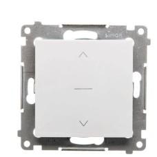 3-позиційний жалюзійний вимикач Kontakt Simon Simon 54 Premium DZW1K.01/11 (1-0-2) (білий)
