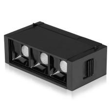 Трековий світильник V-TAC 3800157652780 LED 3Вт SKU-7960 24В 3000K з магнітним кріпленням (чорний)