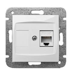 Комп'ютерна розетка Elektro-Plast Carla 1748-10 RJ45 (білий)