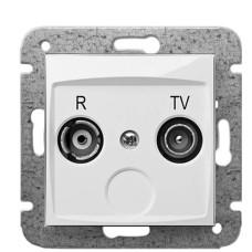 Кінцева R-TV розетка Elektro-Plast Carla 1752-10 (білий)