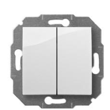 2-клавішний вимикач Elektro-Plast Carla 1711-10 (білий)