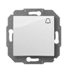 Одинарний кнопковий вимикач Elektro-Plast Carla 1714-10 (білий)