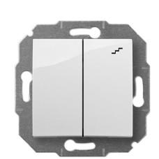 2-клавішний прохідний вимикач Elektro-Plast Carla 1718-10 (білий)