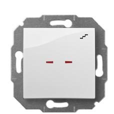 Одноклавішний прохідний вимикач Elektro-Plast Carla 1725-10 з підсвіткою (білий)