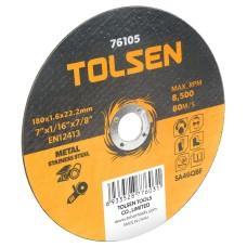Відрізний диск по металу/нержавіючій сталі Tolsen (76105) 180х1.6х22.2мм