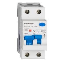 АВДТ Schrack AK668625 6кА 25А 30мА 1P+N характеристика B Тип A