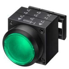 Натискна кнопка Schrack MSL14000 зелена з поверненням