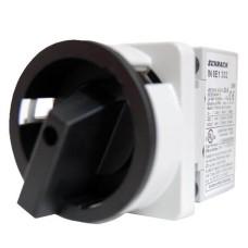 Чорний головний вимикач Schrack IN8E1338 30кВт 80А, на 3-положення