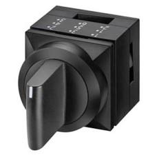 Трьохпозиційний перемикач Schrack MSK010305R 2х50° з фіксацією (чорний)