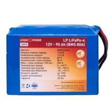 Литий залізо-фосфатний акумулятор LogicPower LP 10270 LiFePO4 12V 90Ah (BMS 80A)
