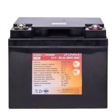 Литий залізо-фосфатний акумулятор LogicPower LP 11741 LiFePO4 12V 50Ah (BMS 50A) пластик
