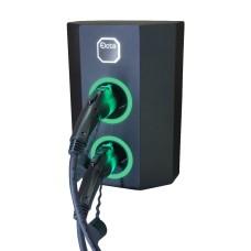 Однофазна зарядна станція для електромобілів Octa Energy W214-C1-C1 на 14кВт з 2 портами (Type 1 Type 1)