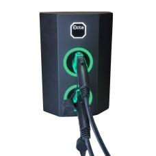 Трьохфазна зарядна станція для електромобілів Octa Energy W244-C22-C22 на 44кВт з 2 портами (Type 2 Type 2)
