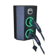Однофазна зарядна станція для електромобілів Octa Energy W214-C2-C2 на 14кВт з 2 портами (Type 2 Type 2)