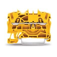 Прохідна клемна колодка Wago 2000-1206 Topjob®S з рейковими кріпленнями на DIN рейку 2L-DG-KL 1,0мм² GELB