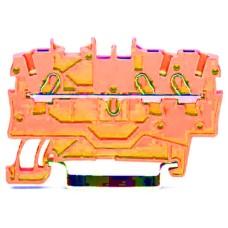 Пружинна набірная клема Wago 2000-1302 на DIN-рейку 1,0мм² (помаранчева)