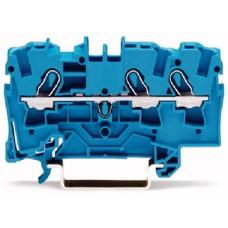 Пружинна набірная клема Wago 2000-1304 на DIN-рейку 1,0мм² (синя)