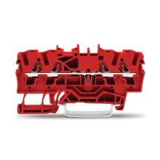 Прохідна клема Wago 2002-1403 2,5мм² Eх e II DIN-рейки 35х15 і 35х7,5 (червона)