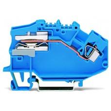 Розмикаюча N клема Wago 781-613 4мм² (Синій)