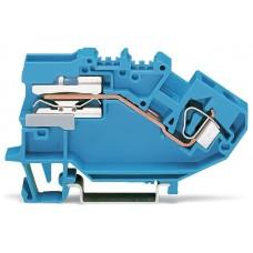 Розмикаюча N клема Wago 782-613 6мм² (синя)