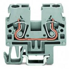 Прохідна компакт-клема Wago 870-911 DIN 15 (сіра)